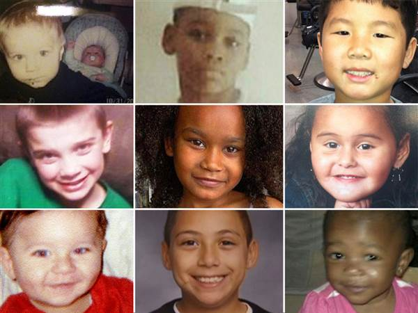 Just in the year since the Newtown school shooting, at least 173 children under age 12 have died from gunshots in the U.S., according to original reporting and research by NBC News. Click on the photo for a timeline of the 173 deaths. From left to right, from top: Alton and Ashton Perry, Leonard J. Smith Jr., Aaron Vu; Middle: Sebastian Swartz, Tiana Ricks, Mia Lopez; Bottom: Antonio Santiago, Jaidon Dixon, Madison Dolford. NBC News