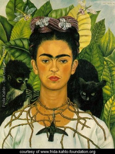 Frida Kahlo, Self-Portrait with Monkeys, 1940