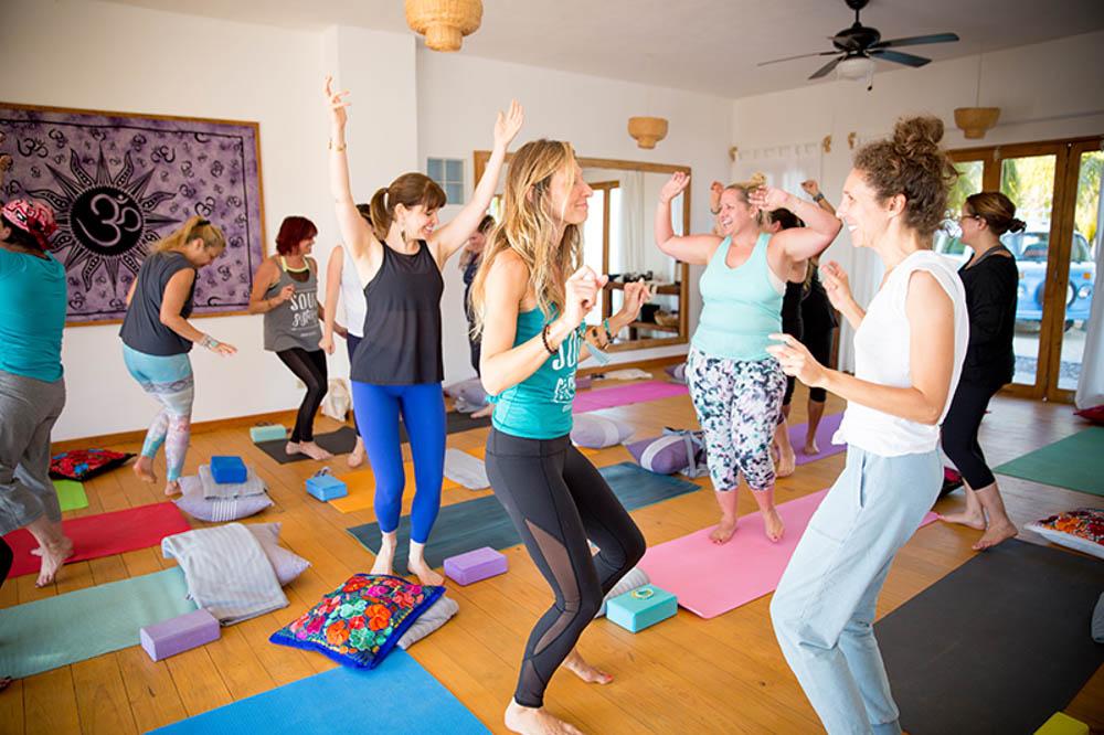 Soul Nourish retreat yoga class